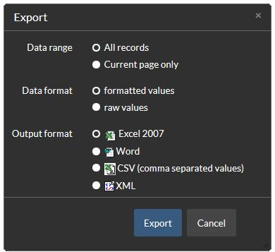 Exporting Names